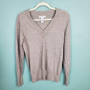 Banana Republic Fine Merino Wool V-neck Sweater L